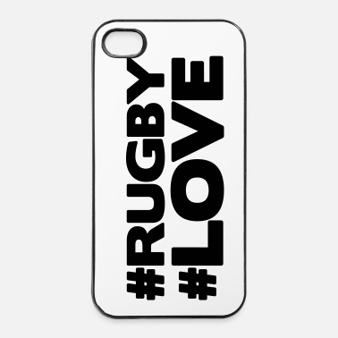 Rugby #RUGBY #LOVE - Coque rigide iPhone 4/4s