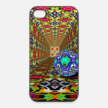 psychedelic kaleidoscope ball - iPhone 4/4s Hard Case