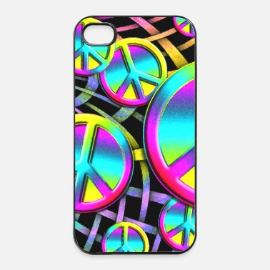 colourful PEACE web - iPhone 4/4s Hard Case