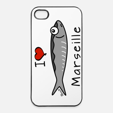 I Love Sardine - I Love Marseille - Coque rigide iPhone 4/4s