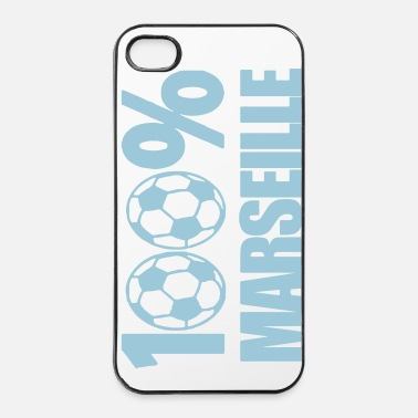 Ballon De Foot 100% Marseille - Coque rigide iPhone 4/4s