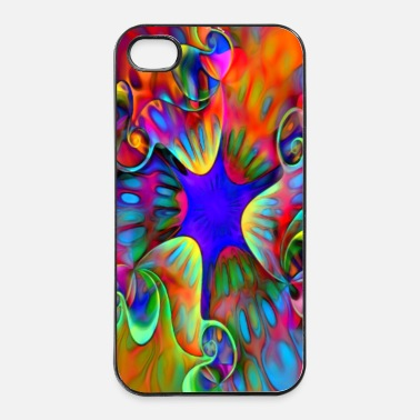 psychedelic power flower - iPhone 4/4s Hard Case