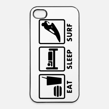 Dormir Surf Eat sleep - Coque rigide iPhone 4/4s