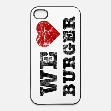 Restaurant we_love_burger_vintage - Coque rigide iPhone 4/4s