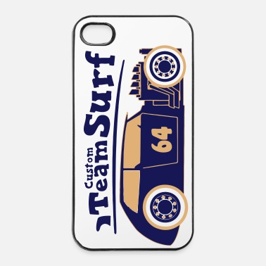 Longboard Surf custom team 64 Biarritz - Coque rigide iPhone 4/4s