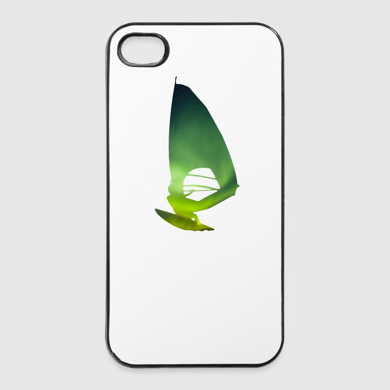 Northern Lights 01 Windsurfer surf - Coque rigide iPhone 4/4s