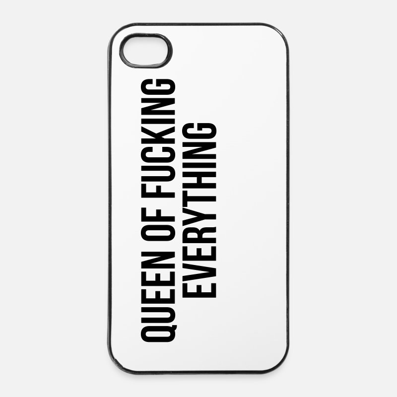 Queen Of Fucking Everything iPhone Cases - Queen of fucking everything - iPhone 4 & 4s Case white/black