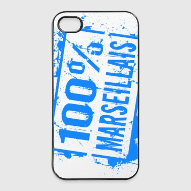 100% marseillais bleu - Coque rigide iPhone 4/4s