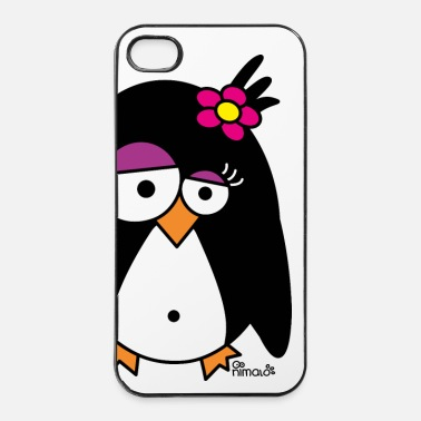 Collections Pingouin Fleur - Coque rigide iPhone 4/4s