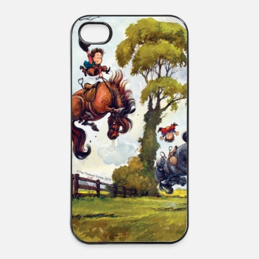 Off PonyRodeo Thelwell Cartoon  - Custodia rigida per iPhone 4/4s