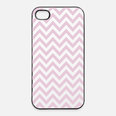 Retrò chevron stripes strisce di chevron - Custodia rigida per iPhone 4/4s