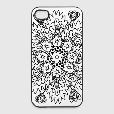 Stilisierte Blüte - iPhone 4/4s Hard Case