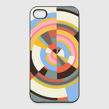 polar radial in farben  - iPhone 4/4s Hard Case