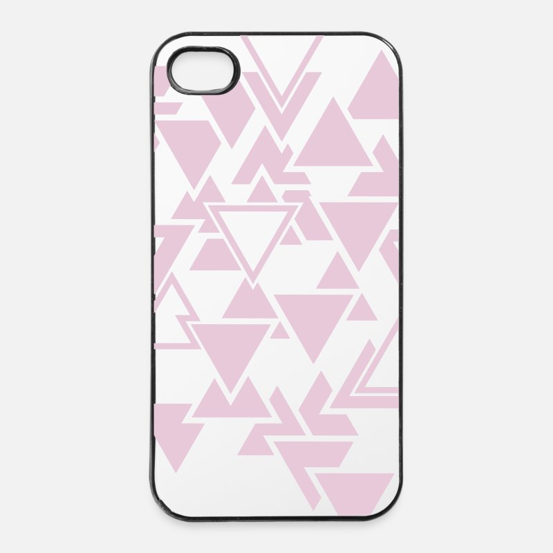 Triangle Coques iPhone - Triangles motif graphique - Coque iPhone 4 & 4s blanc/noir