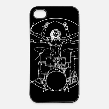 Heavy Metal Da Vinci Rocks drums (2) - Coque rigide iPhone 4/4s