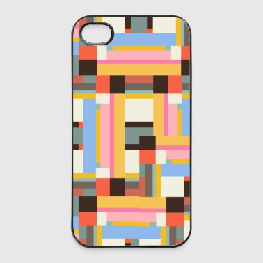 rechecke farbig - iPhone 4/4s Hard Case
