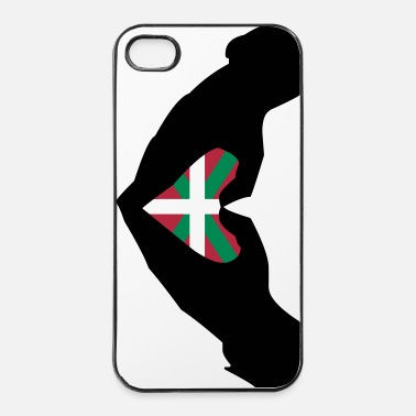 Cœur Cœur Basque drapeau Euskadi - Coque rigide iPhone 4/4s