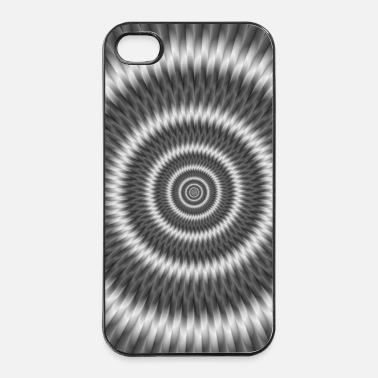 Silver Monochrome Rings - iPhone 4/4s Hard Case