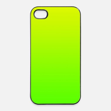 Amarillo color fondo patrón amarillo verde regalo su texto  - Carcasa iPhone 4/4s