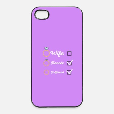 Ensemble L Fiancée de copine partie Mme hen - case - Coque rigide iPhone 4/4s