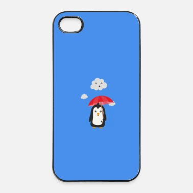 Mammifero Pinguino sotto la pioggia - caso - Custodia rigida per iPhone 4/4s