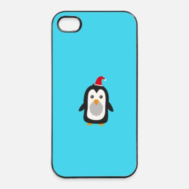 Amusement Pingouin de Noël - cas - Coque rigide iPhone 4/4s