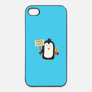 Landscape Penguin with Cactus - case - iPhone 4 & 4s Case