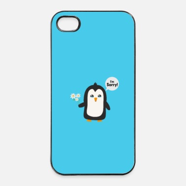 Joyeux Excuses de pingouin - cas - Coque rigide iPhone 4/4s