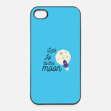 Tecnologia fly to the moon - Case - Custodia rigida per iPhone 4/4s