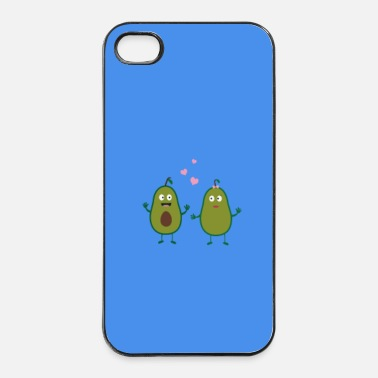 Bio In amore con avocado - caso - Custodia rigida per iPhone 4/4s