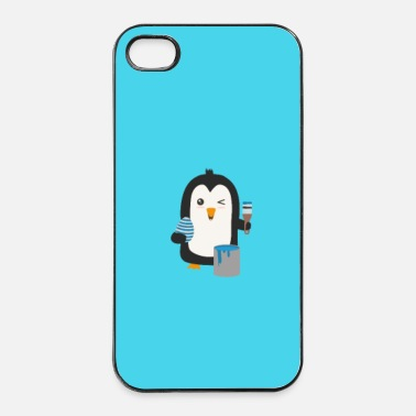 Mascotte Uovo di pinguino - caso - Custodia rigida per iPhone 4/4s