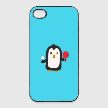 Penguin plays table tennis - case - iPhone 4/4s Hard Case