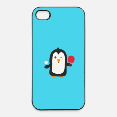 Merry Penguin plays table tennis - case - iPhone 4 & 4s Case