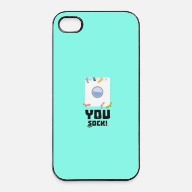Devise Elle sock funny slogan - cas - Coque rigide iPhone 4/4s