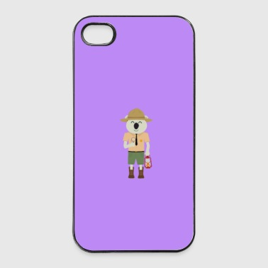 Koala Ranger Hat - zaak - iPhone 4/4s hard case