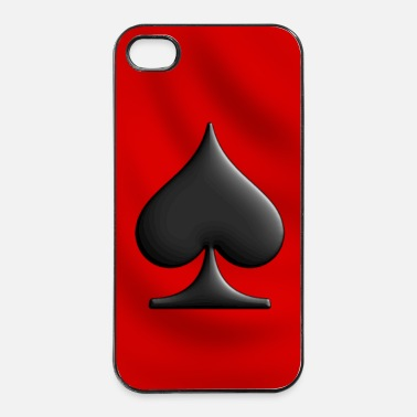 Poker As de pique - coque smartphone - Coque rigide iPhone 4/4s