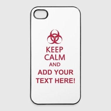 keep calm and toxic  - iPhone 4/4s hard case