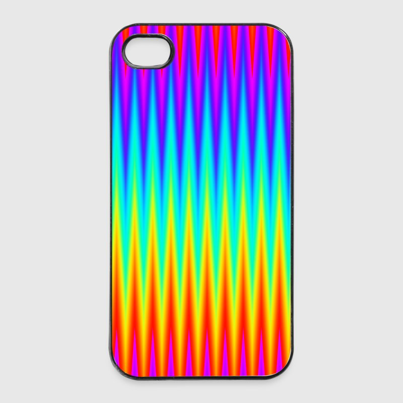 psychedelic background pattern color rainbow phone - iPhone 4/4s Hard Case