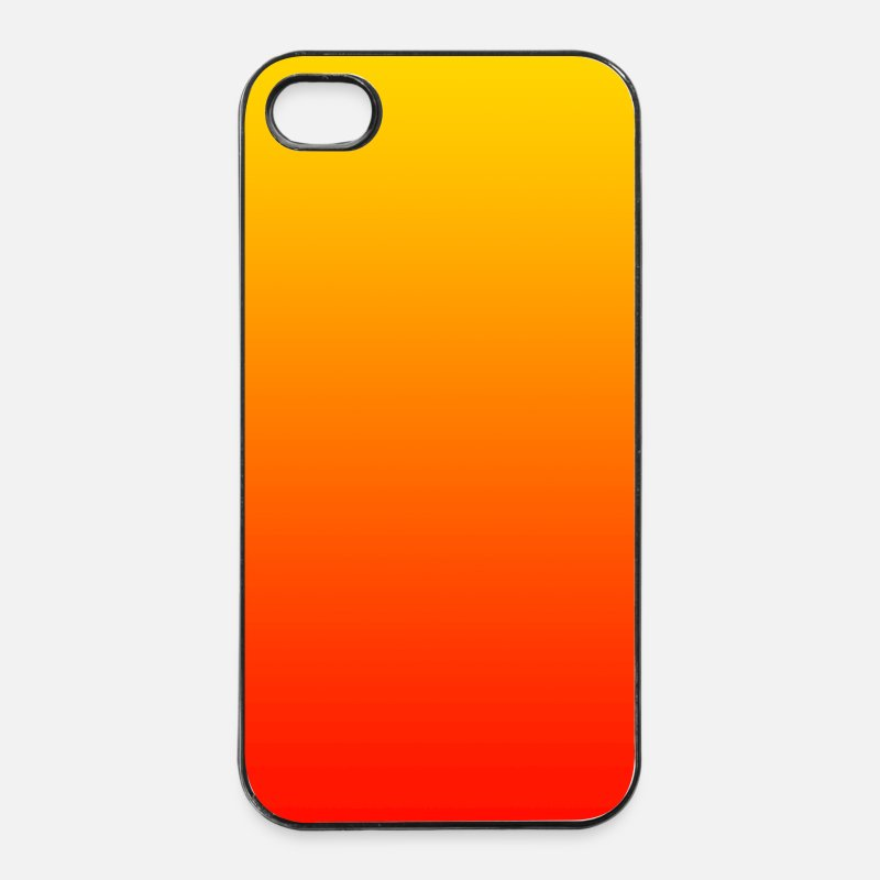 Dad Your Text iPhone Cases - color background pattern orange red gift your text - iPhone 4 Case white/black