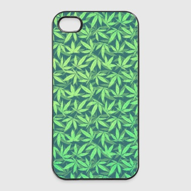 Cannabis / Weed / Marijuana - Pattern (Phone Case) - Twarde etui na iPhone 4/4s