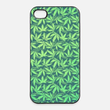 Cannabis Cannabis / Weed / Marijuana - Pattern (Phone Case) - Custodia rigida per iPhone 4/4s