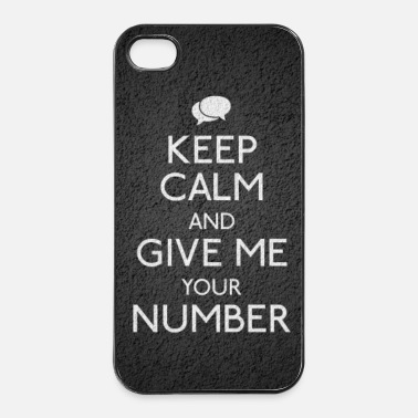 House keep calm give me your number - Coque rigide iPhone 4/4s