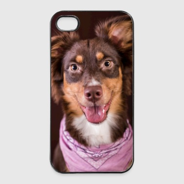 Brauner Hund mit Tuch  - iPhone 4/4s Hard Case