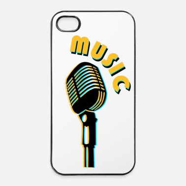 Jazz vintage microphone love music - iPhone 4 & 4s Case