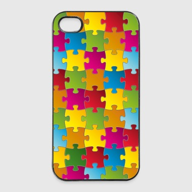 Buntes Puzzle - iPhone 4/4s Hard Case