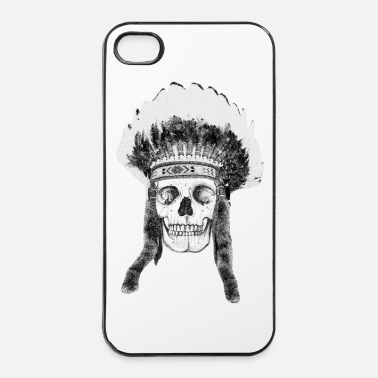 Indien skull indian headdress - skalle - Hårt iPhone 4/4s-skal