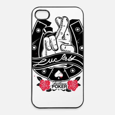 Doigt LUCKYPOKER - Coque rigide iPhone 4/4s