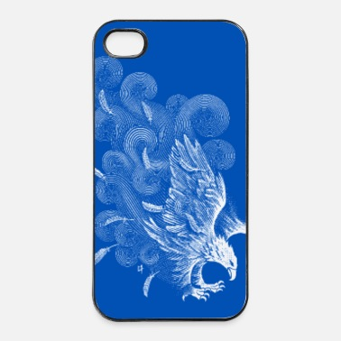 Vent Windy Wings Bleu - Coque rigide iPhone 4/4s