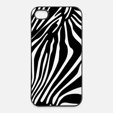 Zebra zebrato shell smartphone - Custodia rigida per iPhone 4/4s
