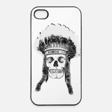 Illustratie skull indian headdress - iPhone 4/4s hard case